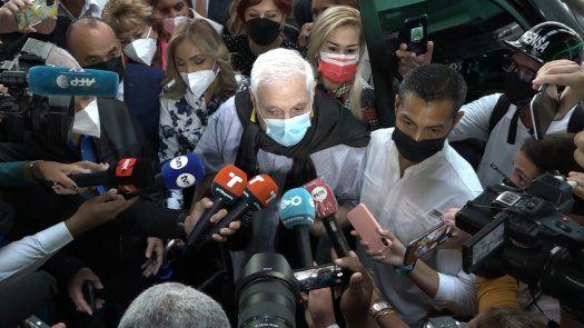 Ricardo Martinelli compareció ante el Tribunal de Juicio Oral.