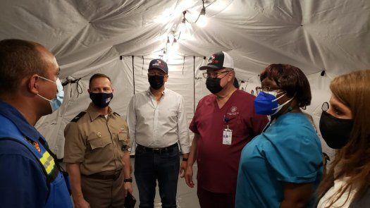 Instalan en Chiriquí hospital campaña donado por Embajada EEUU