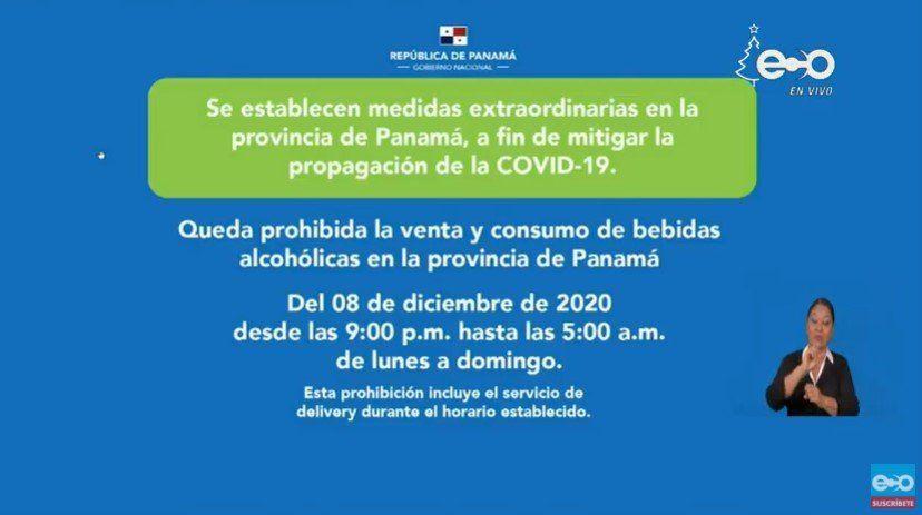 Covid 19 Nuevo Toque De Queda Y Ley Seca Para La Provincia De Panama